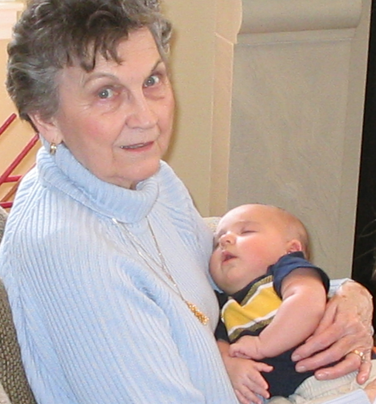 GREAT-GRANDMA LAVONE HOLLIS AND GREAT-GRANDBABY KJ LOREY